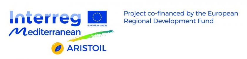 "The main objective of ARISTOIL is the reinforcement of Mediterranean olive oil sector competitiveness through development and application of innovative production and quality control methodologies related to olive oil health protecting properties (as recognized by EU 432/2012 regulation). The project is coordinated by EGTC Efxini Poli - SolidarCity NETWORK (Lead Partner) with partners from Greece, Italy, Cyprus, Croatia, Spain and the total budget is 2,008,200 EUR.  The expected results of project are: - Reinforcement of production of innovative olive oil product. - Training for 3230 olive oil producers and millers. - Awareness raising for consumers. - Development of a standardised procedure for Olive oil ""Health Claim"" certification. - Development of Mediterranean Olive Oil cluster of key actors.  https://aristoil.interreg-med.eu/"
